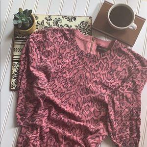 Dana Buchanan Pink Animal Print Sweater size L